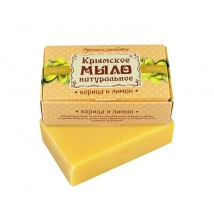 Мыло на оливковом масле Корица и лимон 100г, Дом Природы