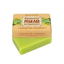 Мыло на оливковом масле Зеленый чай с жасмином 100г, Дом Природы