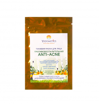 Маска для лица тканевая Anti Acne Противовоспалительная 25мл, Yodometics
