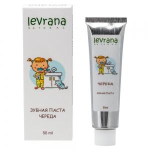 Зубная паста гелевая детская Череда натуральная, Levrana