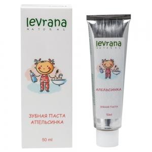 Зубная паста гелевая детская Апельсинка, натуральная, Levrana