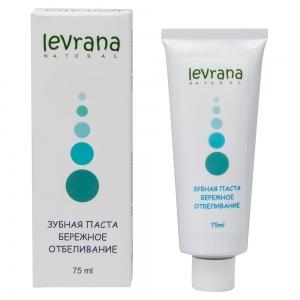 Зубная паста Бережное отбеливание натуральная, Levrana