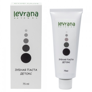 Зубная паста Детокс черная, натуральная, Levrana