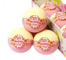 "Бурлящий шарик для ванны ""Люблю"" Pretty Garden"